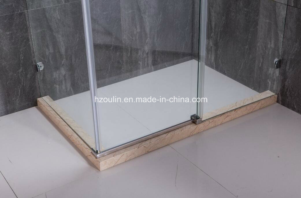 Shower Enclosure with Big Rollers