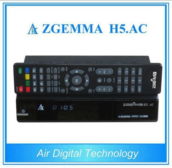 High-Tech Digital TV Receiver DVB-S2+ATSC Twin Tuners Zgemma H5. AC for Mexico/America