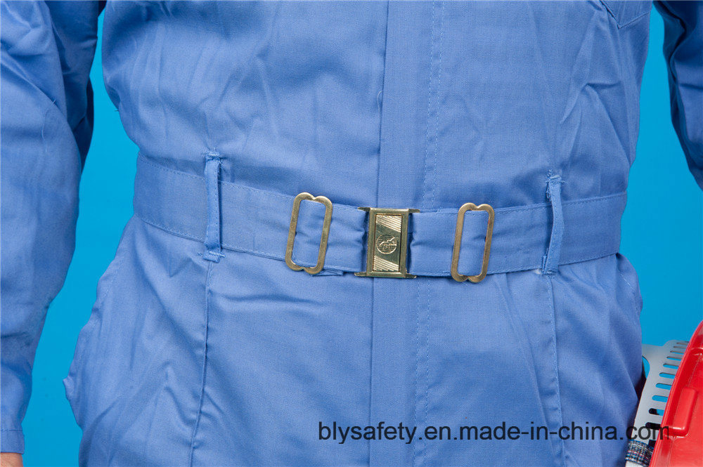 65% Polyester 35%Cotton Long Sleeve Safety High Quolity Cheap Workwear Coverall (BLY1028)