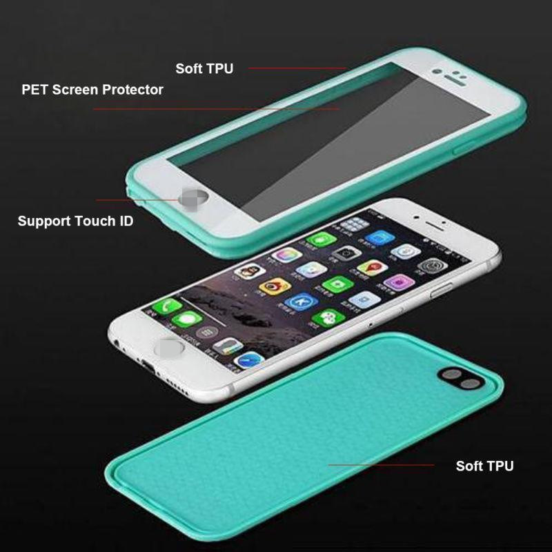 Mobile Phone Utral Thin TPU Slim Cover Waterproof Case for iPhone7 7plus