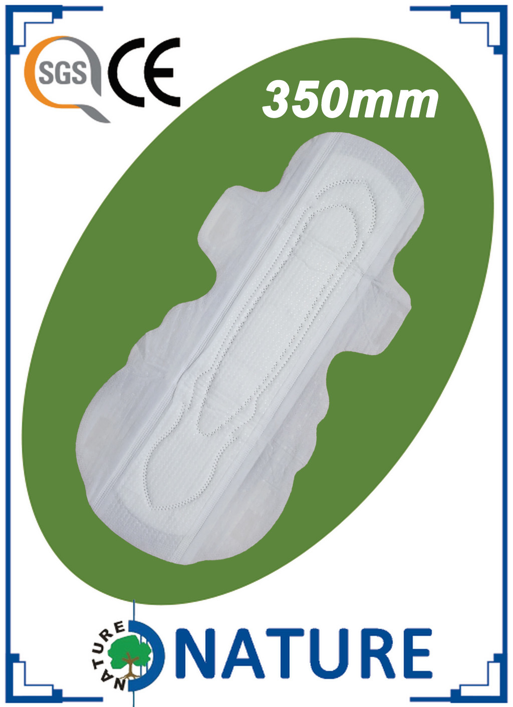 410mm Extra Long Sanitary Towel with Far Infrared Nano Silver