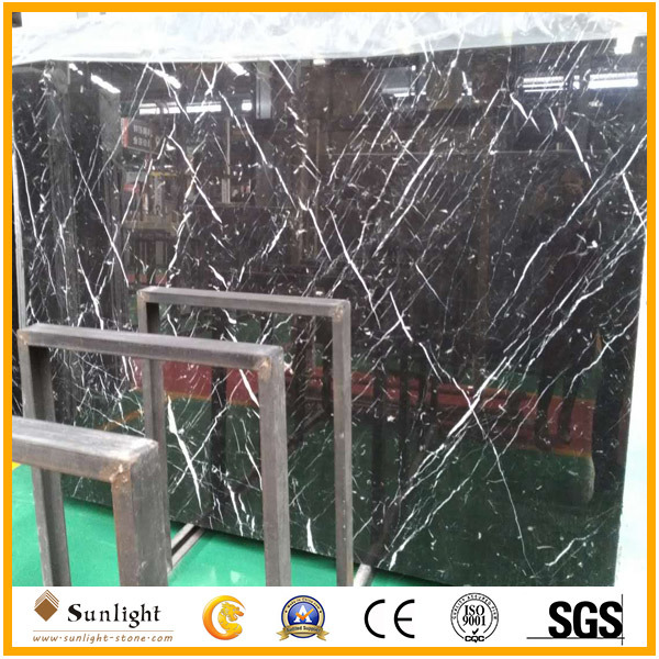 Cheap China Natural Black Nero Marquina Marble/Stone Slabs