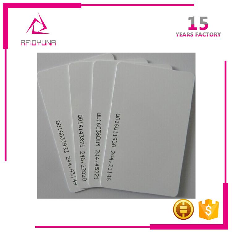 Access Control Card Printing PVC Tk4100 125kHz RFID Smart ID Card