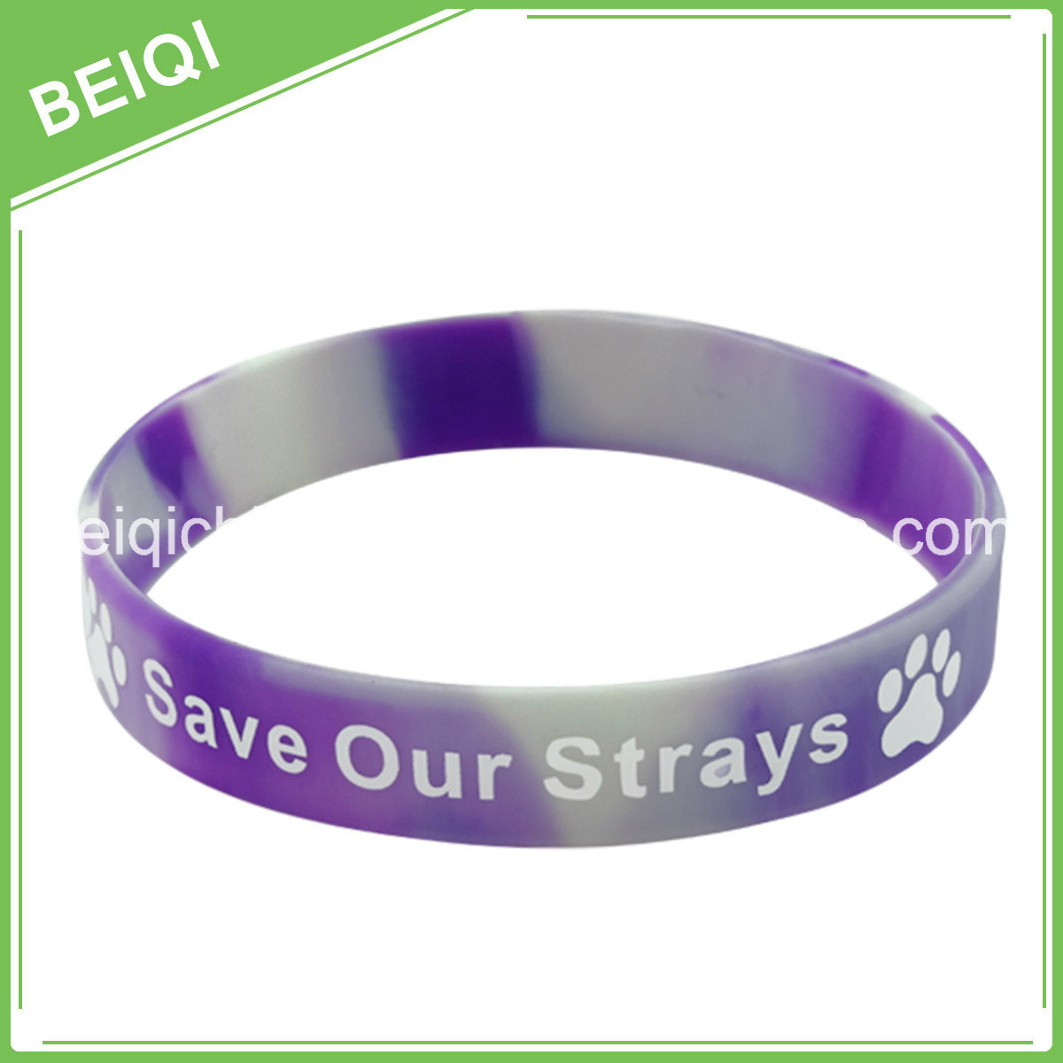 Cancer Rubber Bracelets with Logo Color Filledin