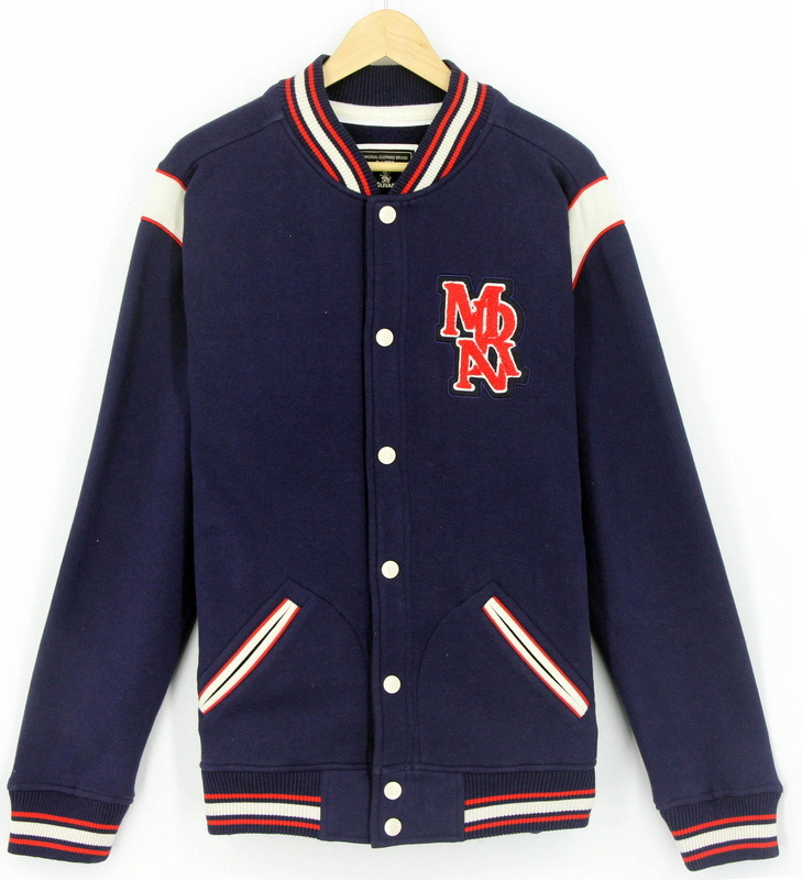 2017 New Design Wholesale Custom Men Fleece Fashion Baseball Jacket Sweatshirt