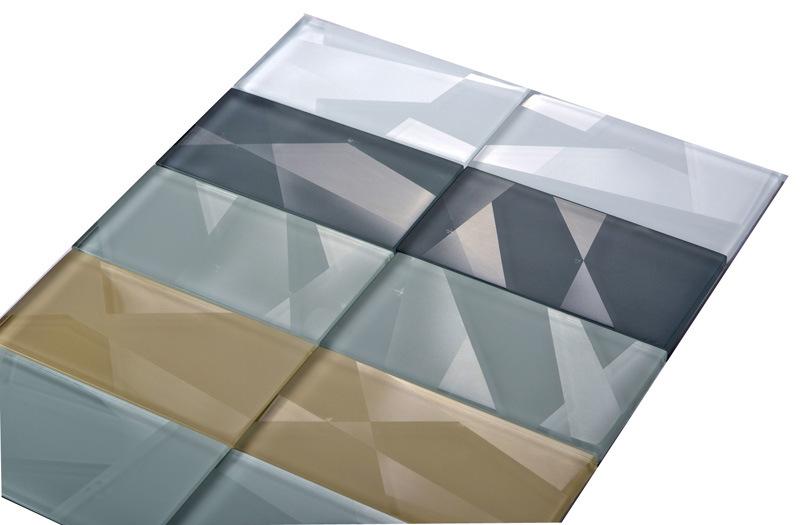 3D Glass Mosaic Tile (3D glass tile at 75X150X8)