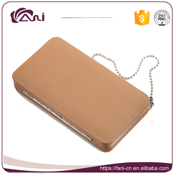 Fashion Womens Big Clutch Wallet with Chain