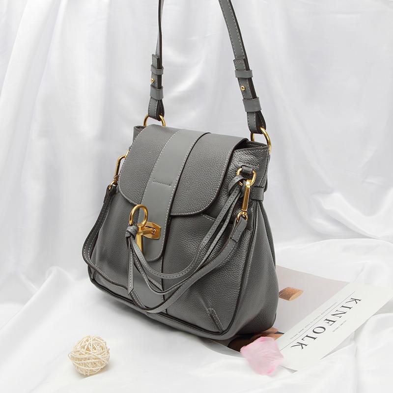 Dz038. Shoulder Bag Handbag Vintage Cow Leather Bag Handbags Ladies Bag Designer Handbags Fashion Bags Women Bag