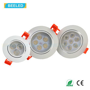 7W Epistar Spot Light Dimmable Warm White LED Ceiling Lights