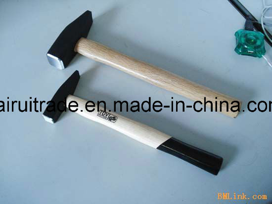 0.5kg German Type Machinist Hammer with Wooden Handle