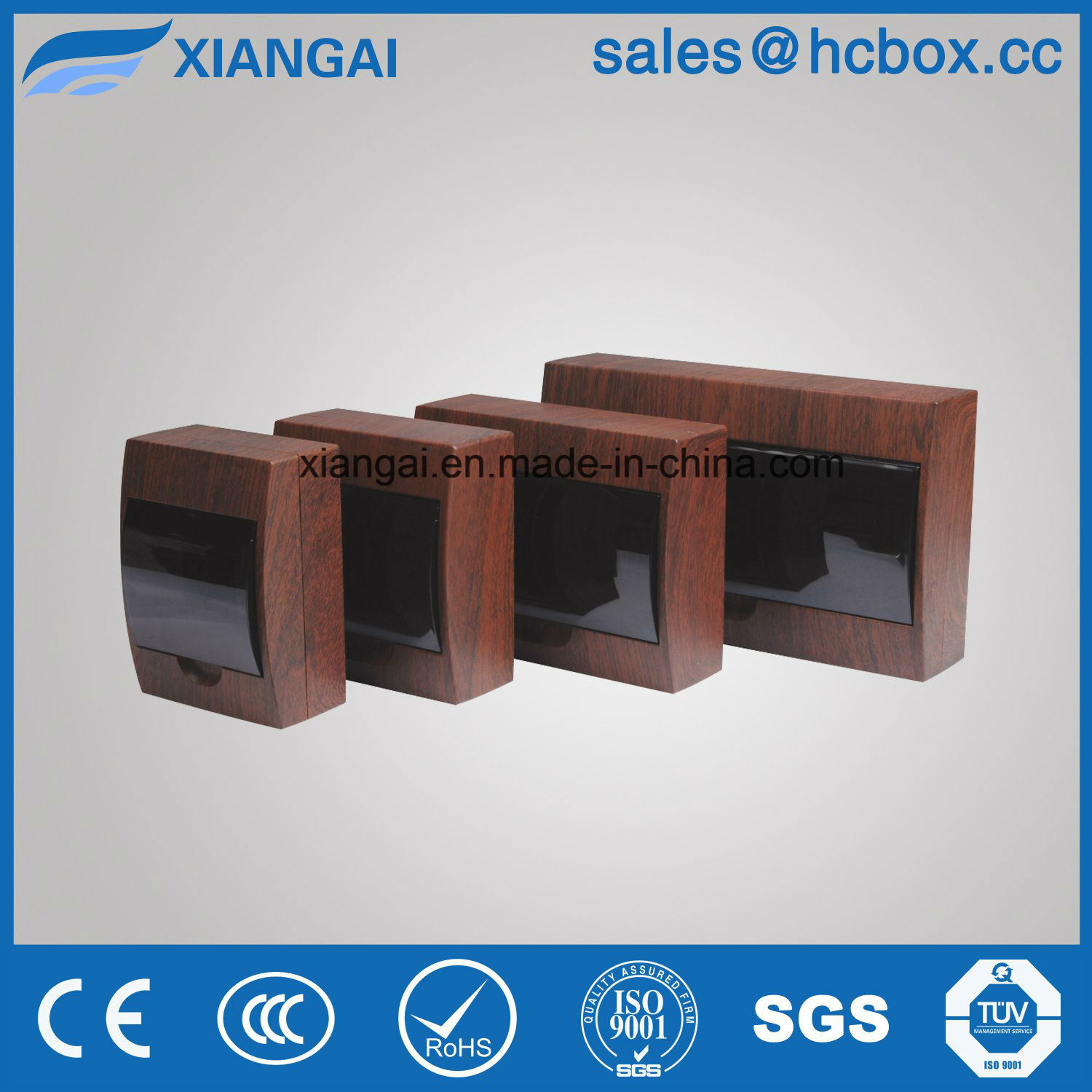 Plastic Distribution Box Brown Wooden Color Distribution Box Newest Color Tsm Box