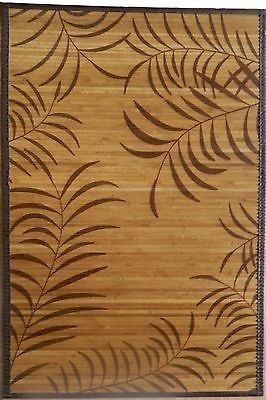 Handmade Stained Bamboo Rug with Beautiful Pattern