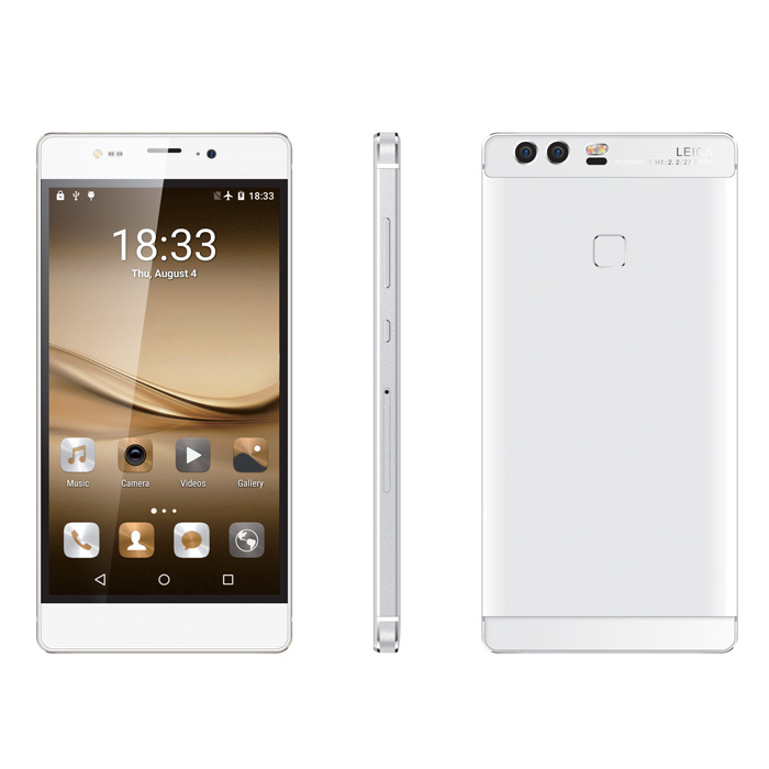 Mtk6580A Quad Core 5.5 Inch HD Screen 3G Mobile Phone with 1g RAM and 8g ROM Memory Cell Phone with Fingerprint Function (P9 plus)