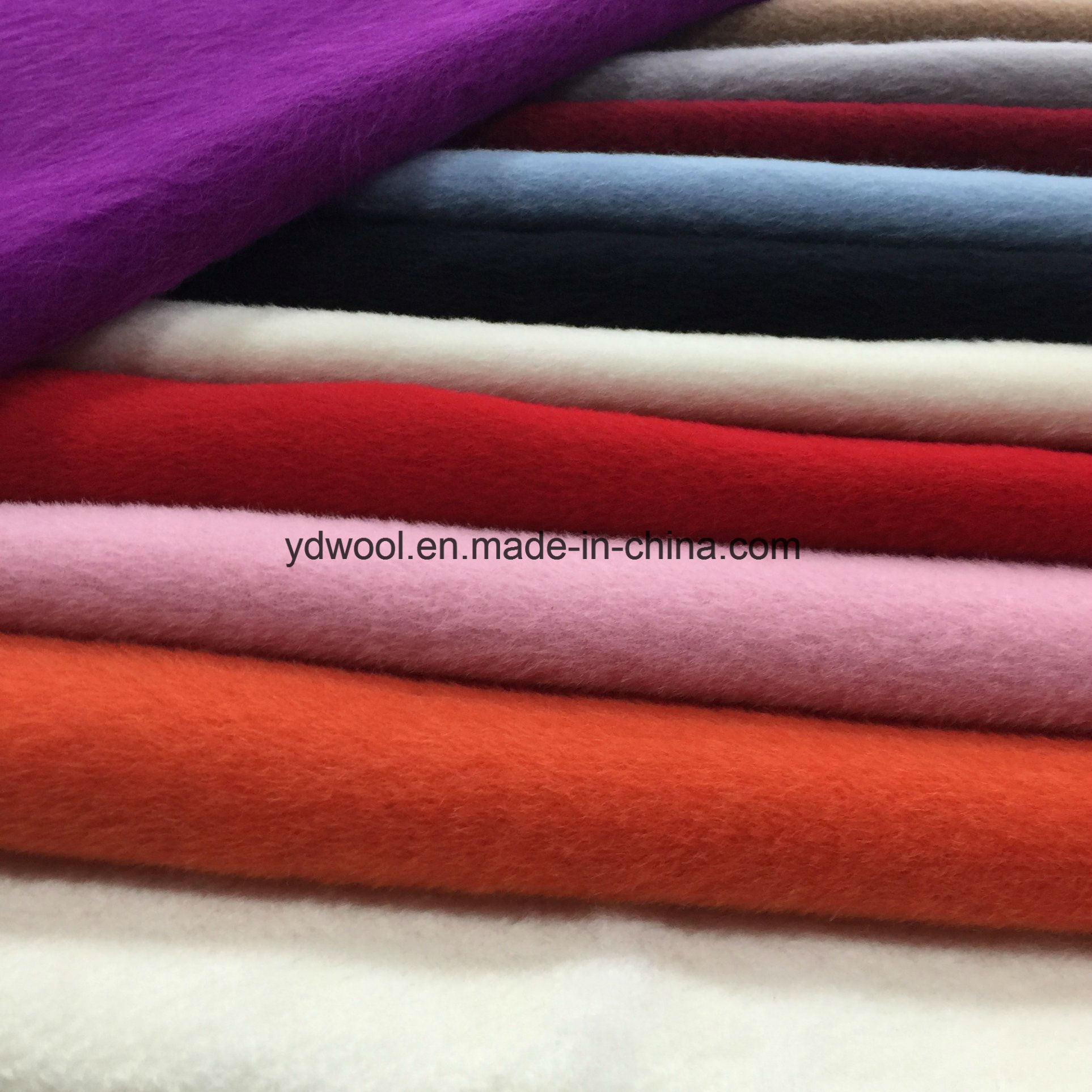 Alpaca Style Woolen Fleece Wool Fabric Greige