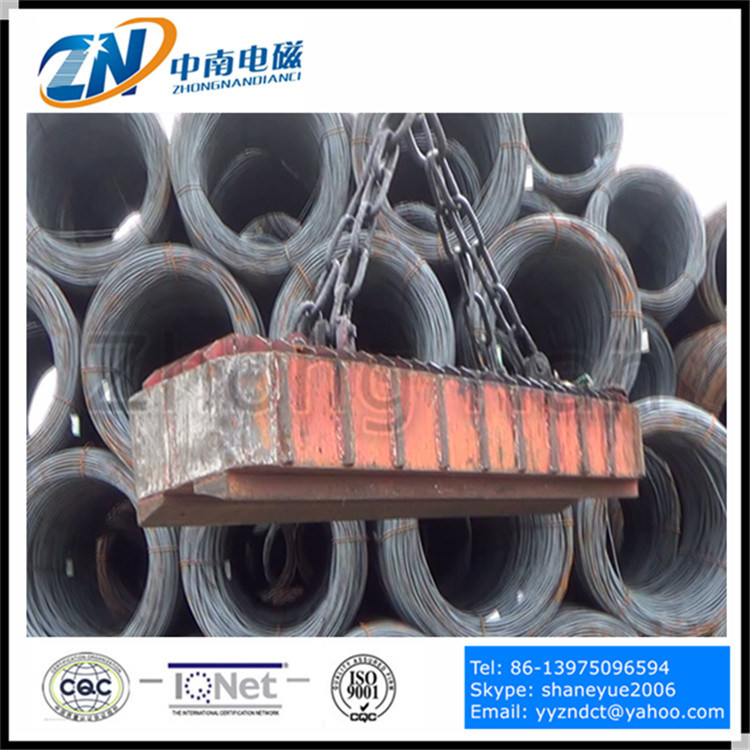 Square Lifting Magnet for Wire Rod Coil Instead of C-Hook Using MW19-21072L/1