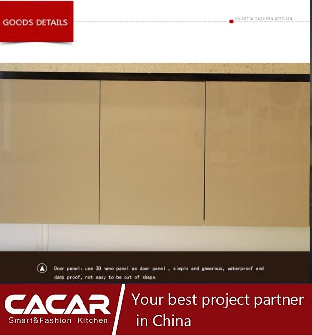 2017 New Design Modern Style Special Nano-Panel Kitchen Cabinet (CA01-02)