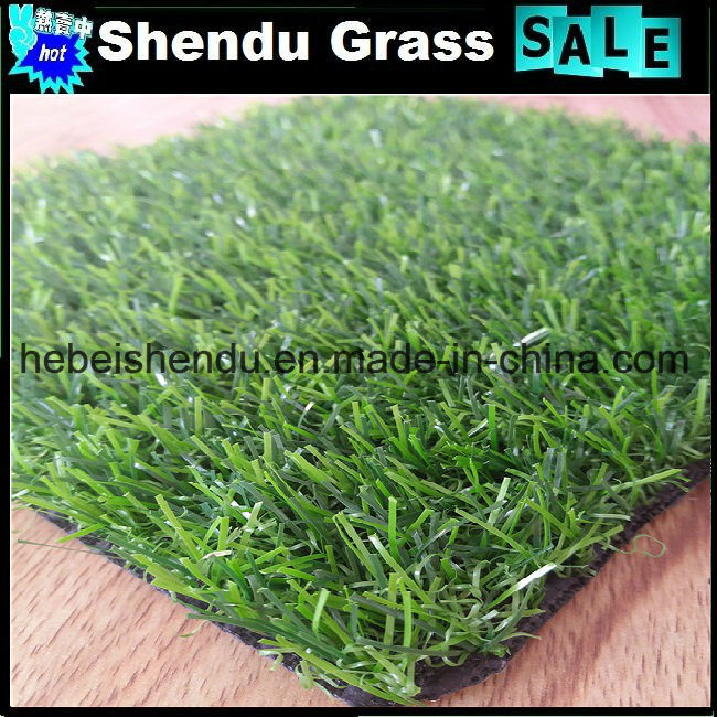 Synthetic Turf Grass 20mm Green Straight+Yellow Curl Yarn