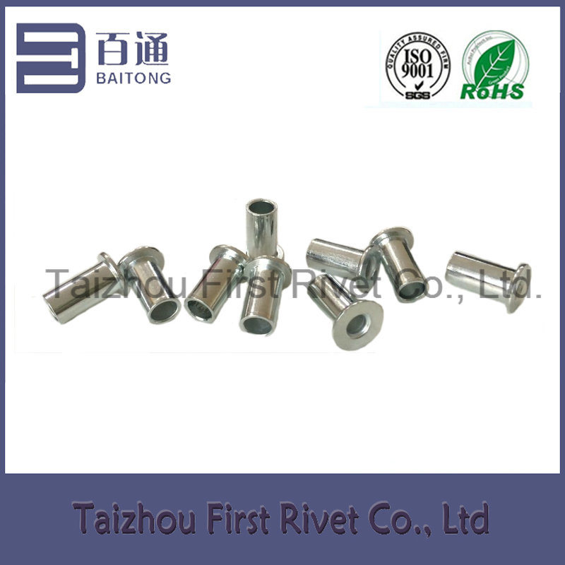 8X16mm Zinc Plated Flat Head Full Tubular Steel Rivet