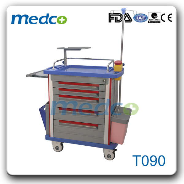 Hospital Medical ABS Emergency Trolley