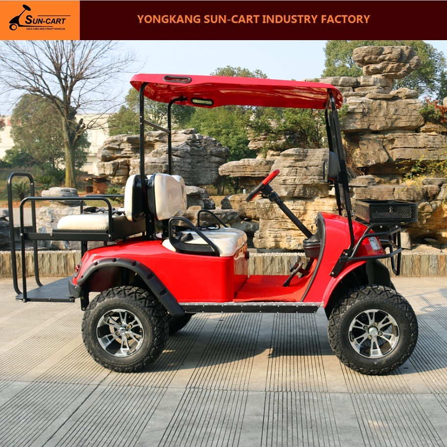 4 Passenger Electric Hunting Golf Cart (Rear back folding seats)