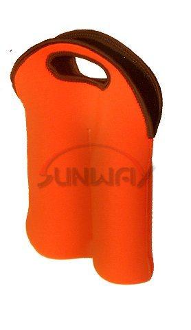 Custom Neoprene 2 Bottle Wine Tote Bag, Insulated Bottle Carrier (BC0049)