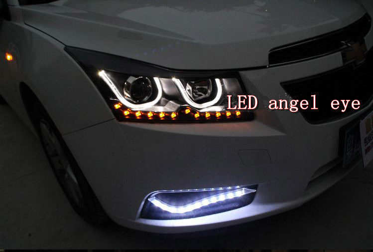 China chevrolet cruze led angel eye headlight bi xenon projector china chevrolet cruze