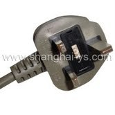 Certificated Power Cord Plug of Fuse for British (YS-55)