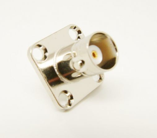 BNC Female with 4 Holes Flange Solder Connector Adapter (BNC-KF)
