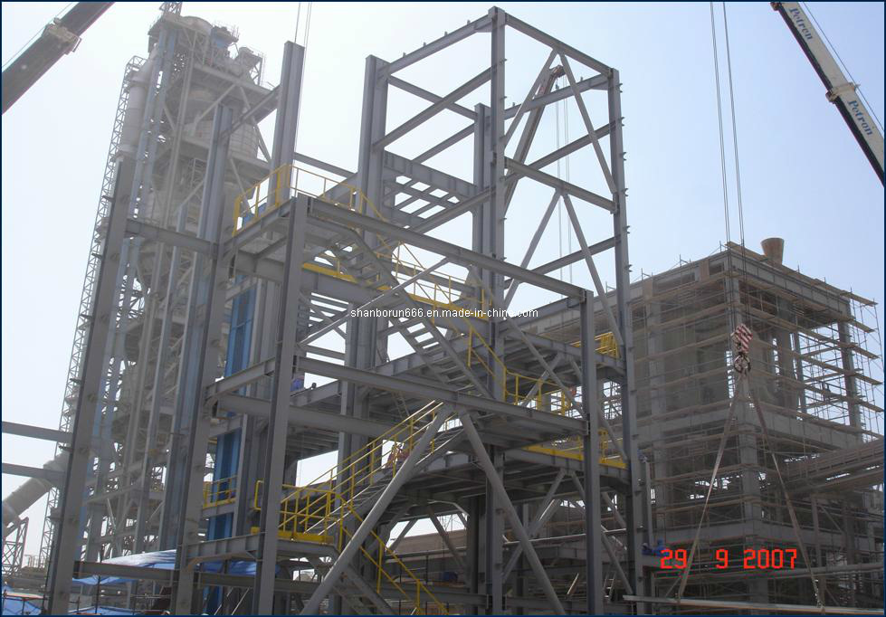 Cement Plant Structure : China nigeria steel structure cement plant br