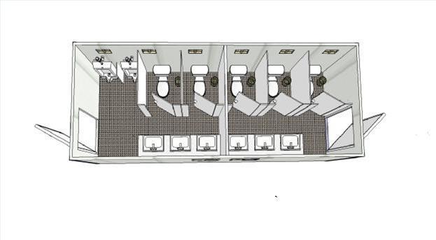 Prefab bathroom