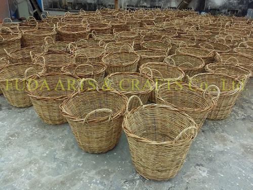 Square Natural Handmade Garden Basket