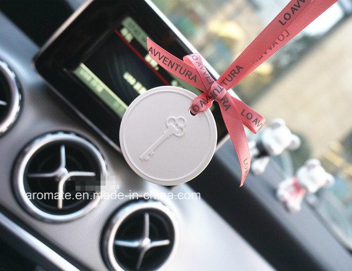 Hanging Round Ceramic Aroma Diffuser Car Air Freshener (AM-21)