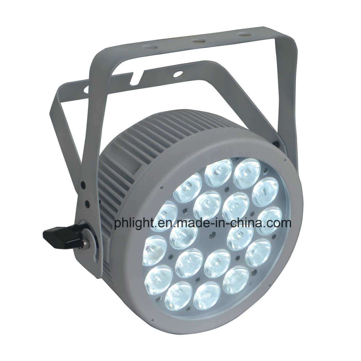 18X5w Warm White Cool White 2-in-1 LED PAR Light with White Housing for Stage, Studio, Camera
