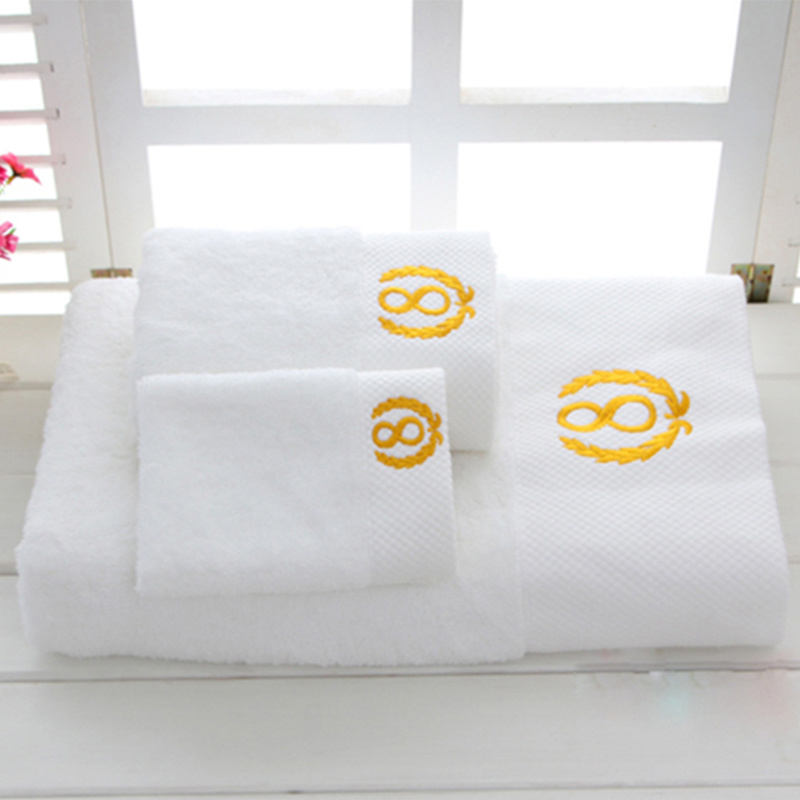 100% Cotton White Terry Hotel Bath Towels Manufacturer Tow-001