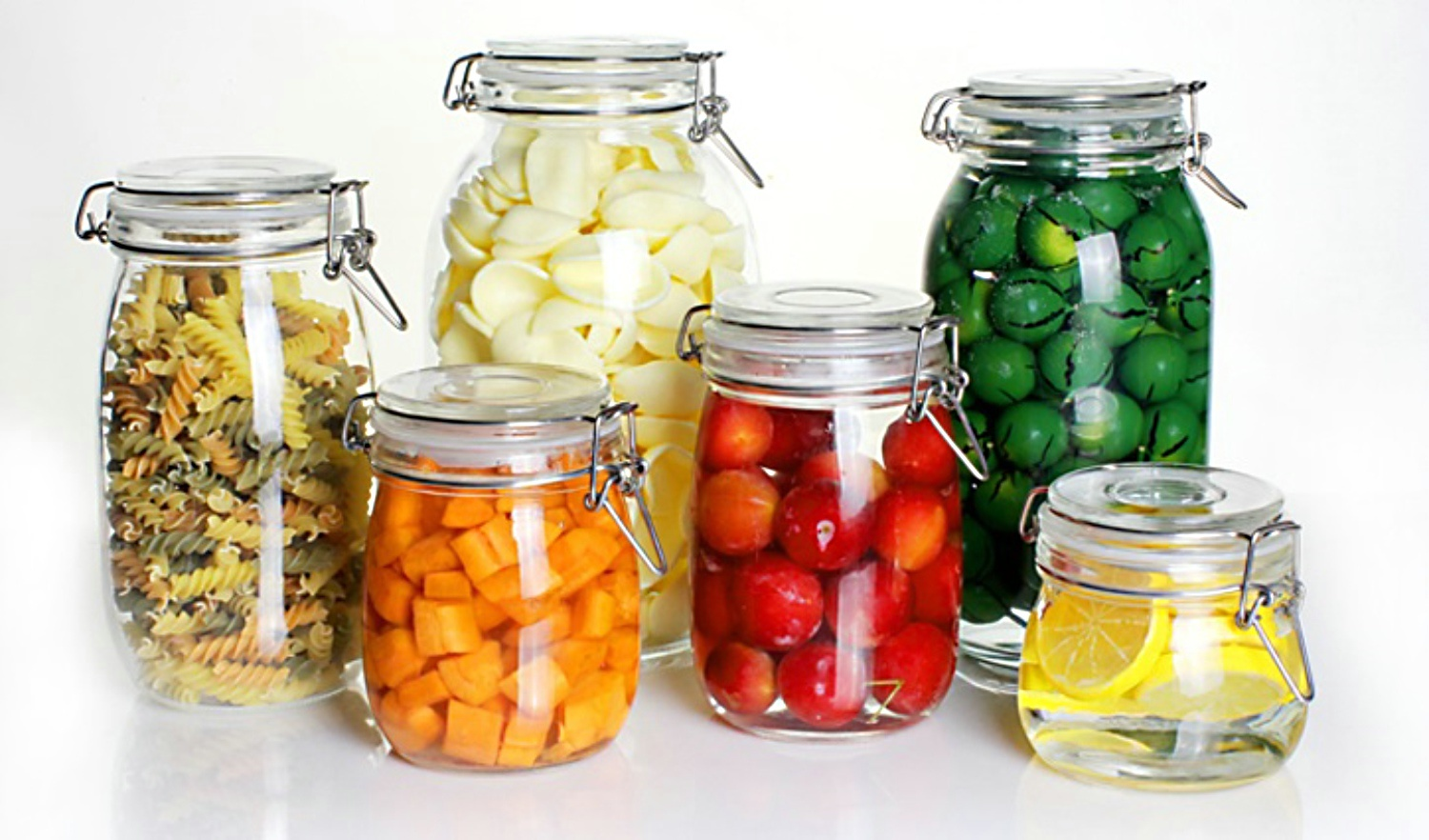 Glass Jar of Glassware in Kitchenware for Storage Food
