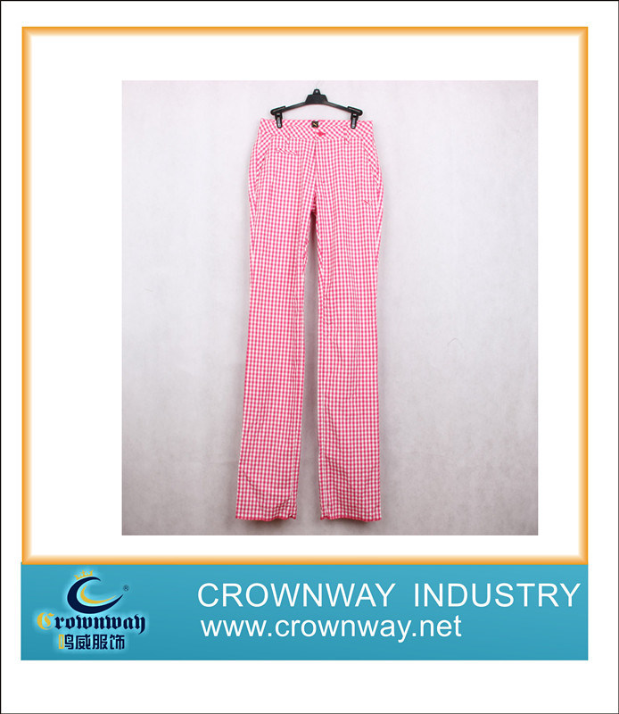 Loose Fit Golf Pant for Women, Checkeredprinted (CW-MGTS-10)