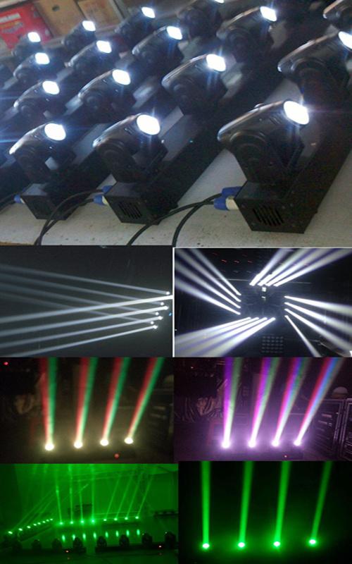 4 Heads RGBW CREE LED Moving Head Disco Beam Light
