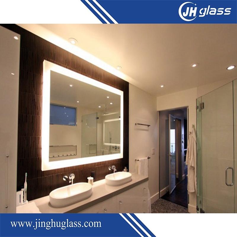 Hotel Bathroom Framless LED Backlit Mirror with Infrared Sensor