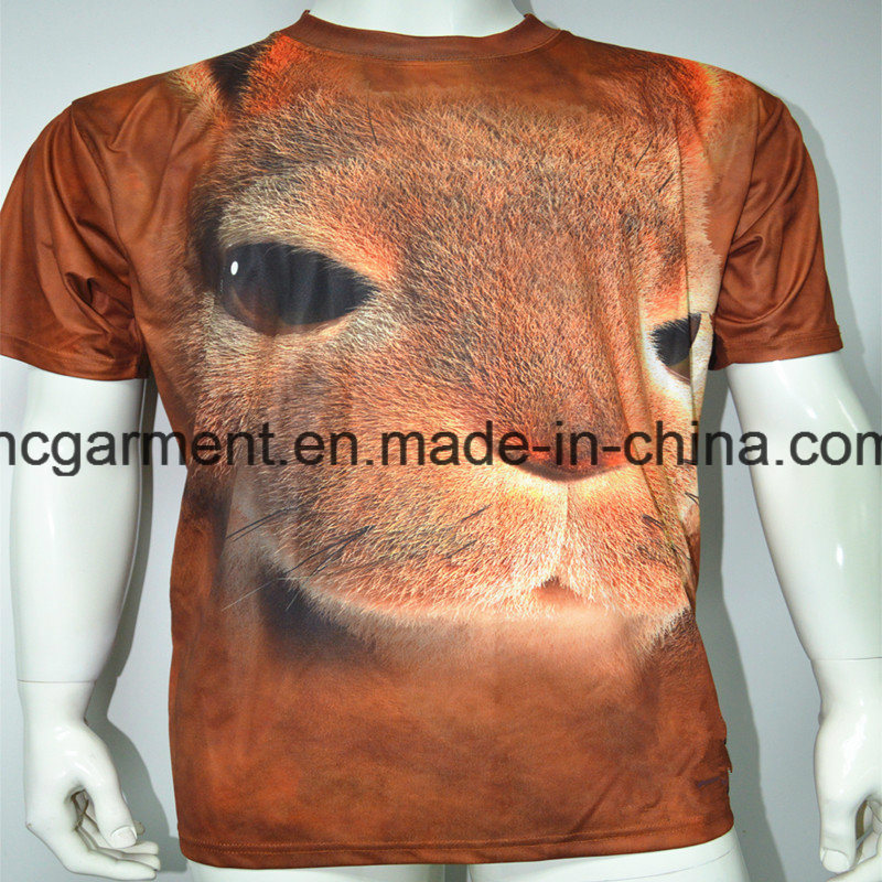 3D Sublimation Printed Round Neck T- Shirt for Man/Women