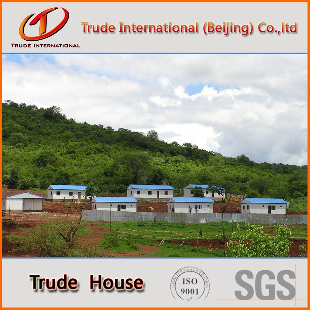 Prefabricated/Mobile/Modular Building/Prefab Sandwich Panels Low Cost Camp Family Houses