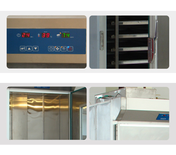 2 Doors Big Capacity Industrial Bread Proofer with 256 Trays
