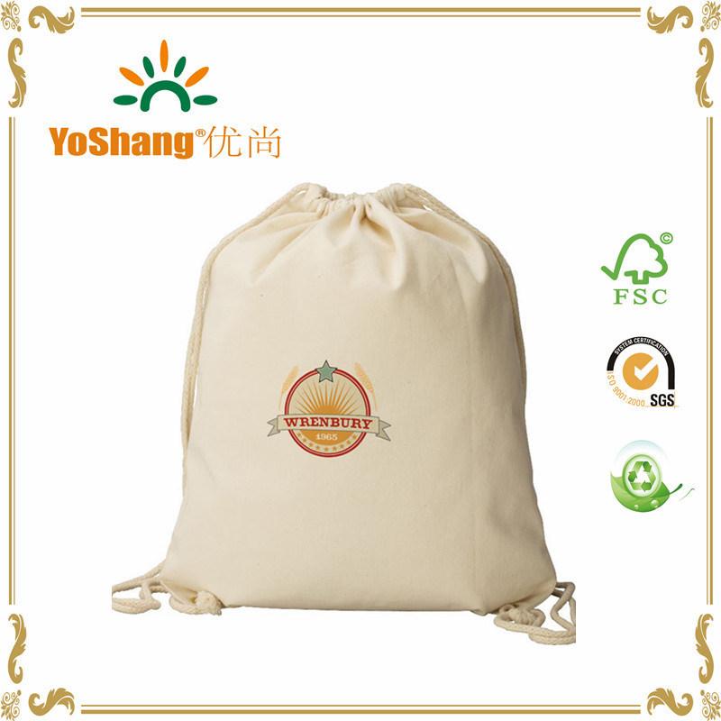 China Munufacture Cheap Promotional Duffle Canvas Jute Cotton Drawstring Bag