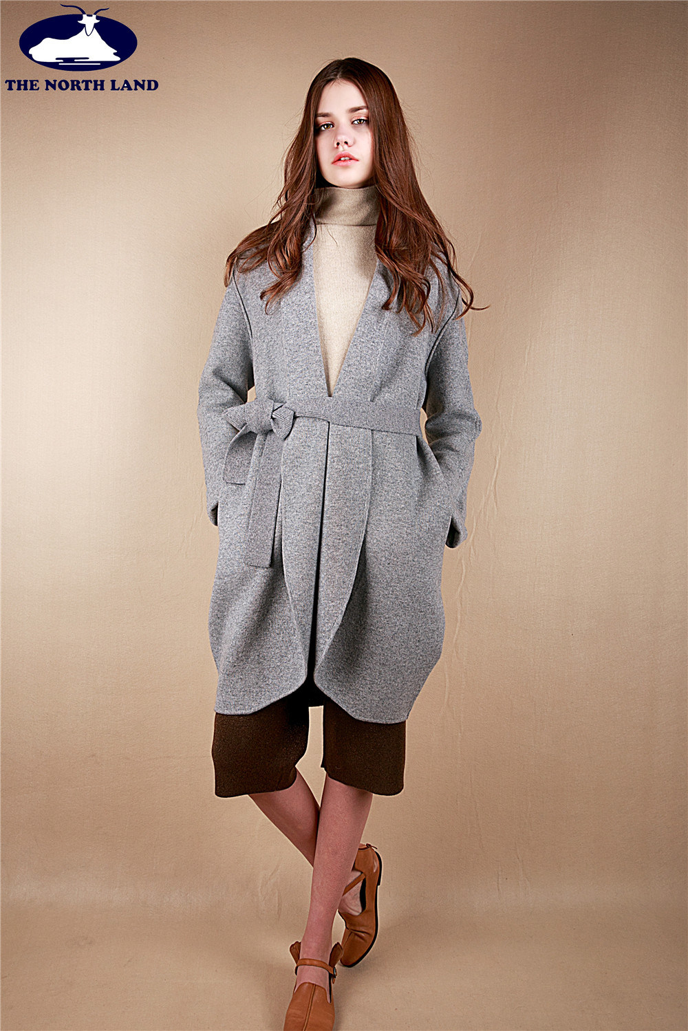 Cashmere Knitted Coat with Belt