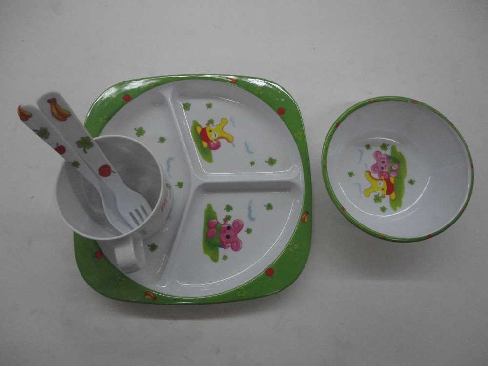 4PCS Creative Children Mlamine Tableware