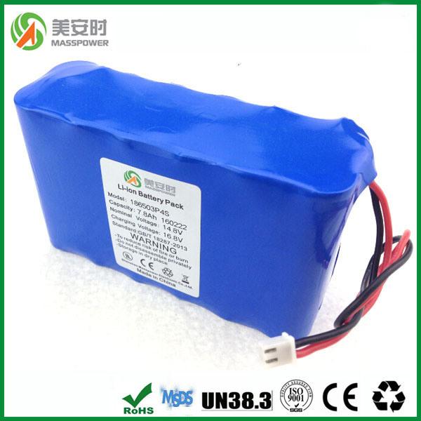18650 Type 14.8V 7800mAh Li Ion Battery
