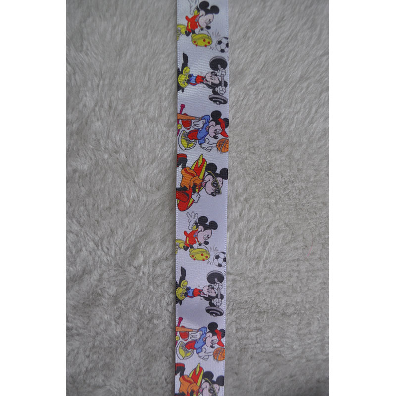 5mm-75mm Woven Tape Colorful Printed Grosgrain Ribbon for Gift/Flower Wrap
