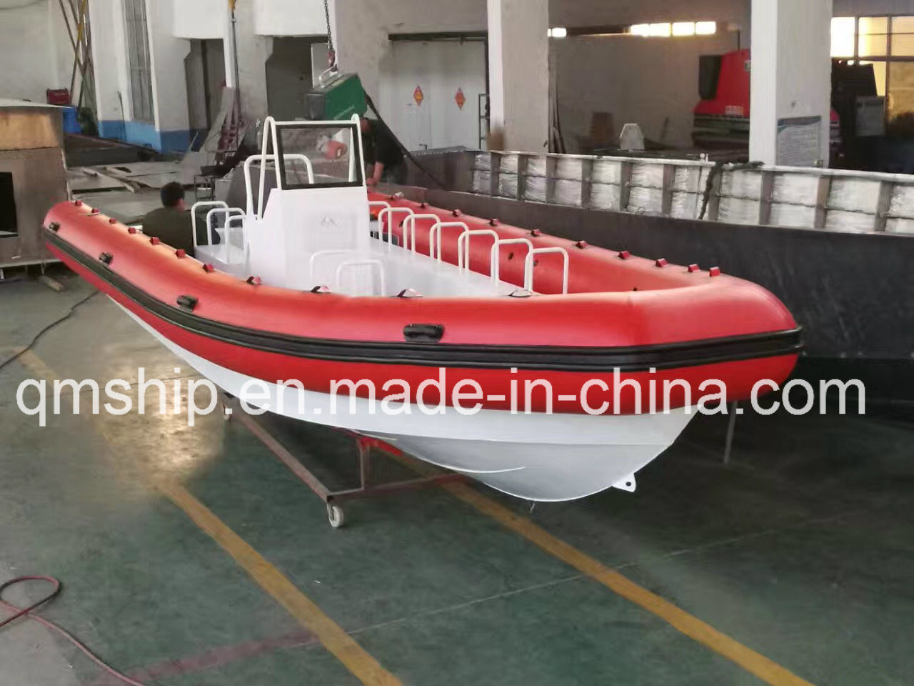 Nice Inflatable Rubber Air Bag and Aluminium Rib Boat