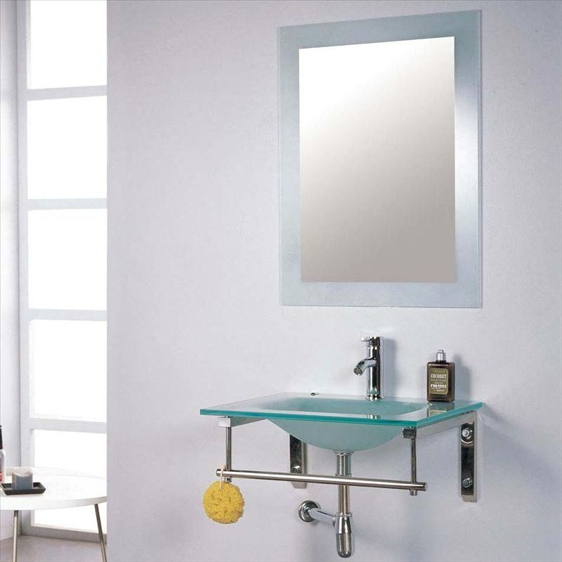 China glass bathroom mirror photos pictures made in for Glass mirrors for bathrooms
