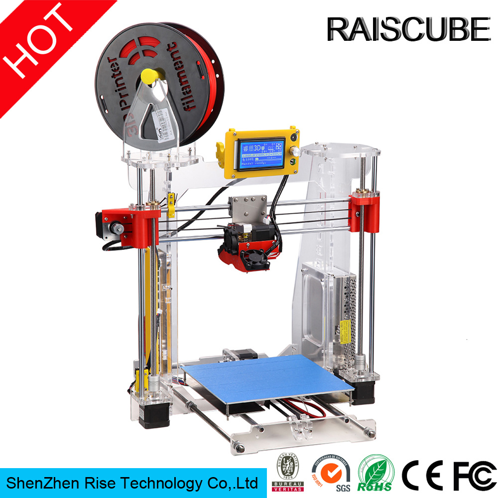 Raiscube Acrylic Reprap Prusa I3 Rapid Prototype Fdm 3D Printer