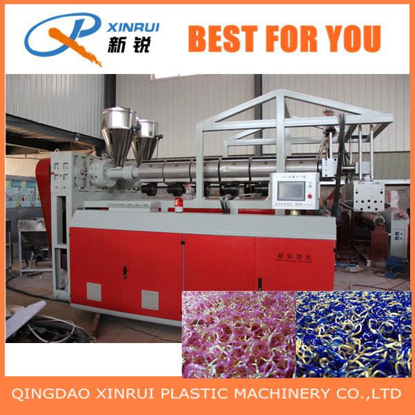 PVC Plastic Spray Silk Carpet Extrusion Making Machine